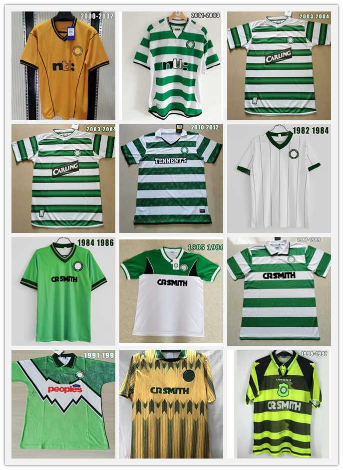 Retro 1980 1991 1991 1995 1997 1998 1999 Celtic Fussball Trikots 95 96 97 99 Larsson Nakamura Keane 91 92 Celtic Yellow Sutton Football Hemden