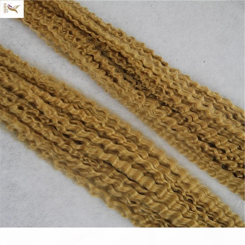 10-30 pulgadas Extensiones de cabello rizado brasileño 100% cabello humano 1 pieza Color puro tejido de pelo Paquetes Remy Remy