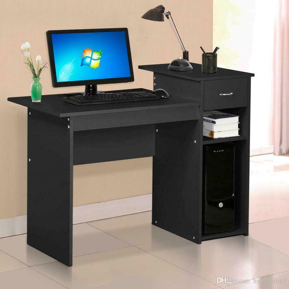 Главная Офис Уголовный стол Wood Top PC Ноутбук Таблица Рабочая станция Мебель Черный