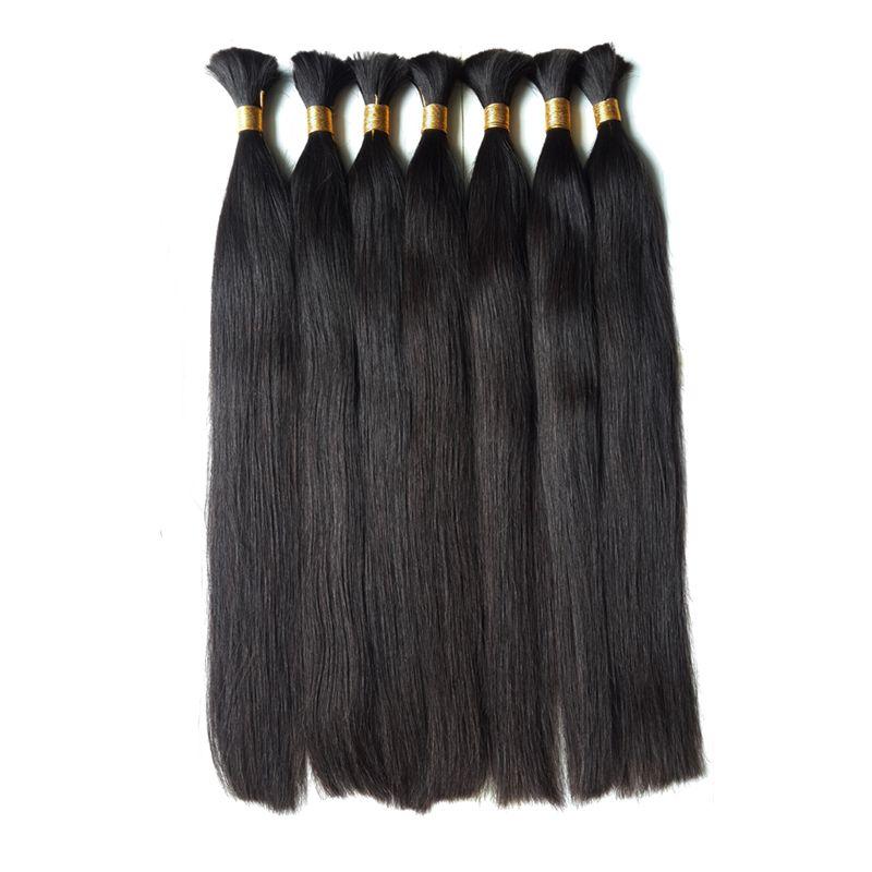 2021 Novo cabelo humano de Remi para trança a granel fábrica de cabelo não transformados Cabelo 20''22'24inch atacado produção de produção de vendas diretas