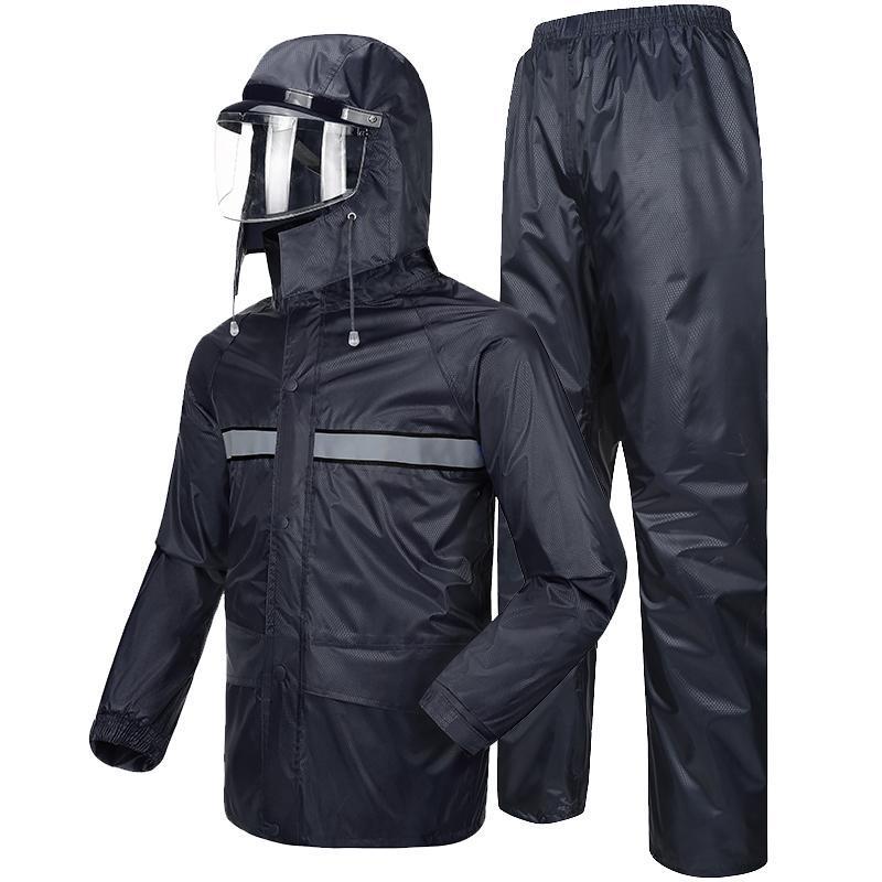 Yağmurluklar Evrensel Unisex Yağmurluk Kadınlar Su Geçirmez Kapüşonlu Yürüyüş Genel Ceket Regenjas Dames Panço Erkekler Yağmur Dişli Qea60yy