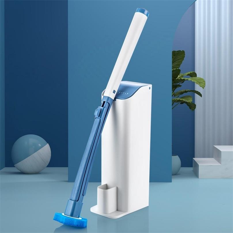 Nettoyage des toilettes jetables de salle de bain Nettoyage sans angle mort brosse de toilette nettoyage ménage Artefact d'artefact de nettoyage 201214