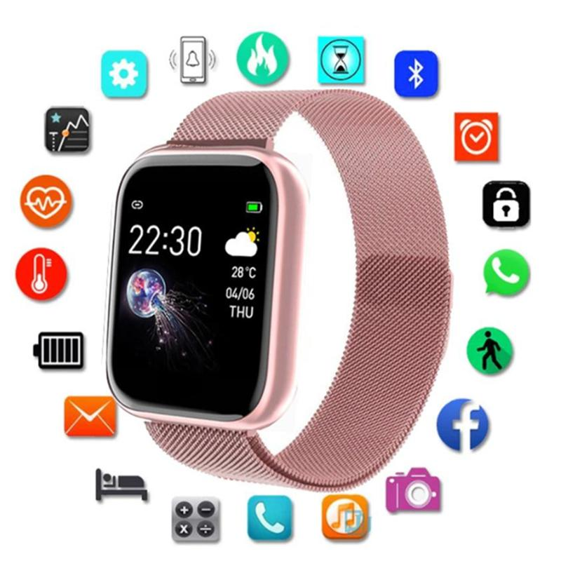 Christmas Gift Sports Smart Watch Men Women Pedometer Heart Rate Blood Pressure Monitoring Men And Women Kids Smartwatches For Android IOS