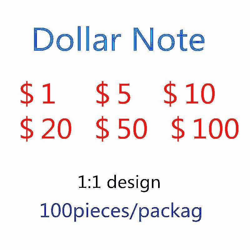 Explosio contraffazione Bill US DOLLARS FAST DOLLARS PMAP BankNote Game Toy Dollar Ups Party ShippingsMolato Token Valuta 100 di Simulat SSRO