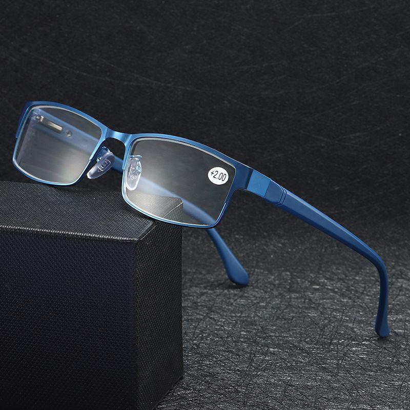 Men's Metal Glasses Men Reading Presbyopia Ultra Male Women Eyeglasses TR90 4.0 Eyewear 1.0 Light 2.0 2.5 3.5 3.5 MKGIP