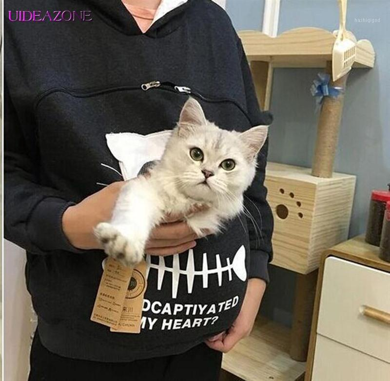 Женские толстовки толстовки пуловеры Свободная толстовка носить кота дышащий кенгуру обниматься чехол женское ухо с капюшоном пэт Hoody1