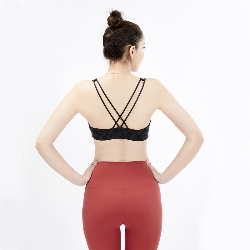 مثير اليوغا الصدرية النساء مبطن الرياضة البرازيلي اهتزاد دليل تشغيل تجريب رياضة أعلى تانك اللياقة البدنية قميص سترة