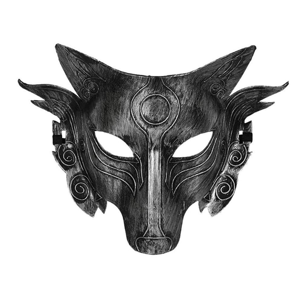 Halloween Cosplay Wolf Disfraz Full Face Mask Hombres Mujeres Adecuado para Mascarada, Carnaval, Juguetes de juego de roles