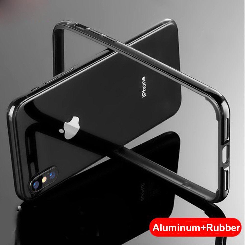 İPhone 12 Mini Pro Max Tampon Kılıfı Alüminyum Metal Çerçeve Zırh Kapak Sağlam Silikon Darbeye Dayanıklı Telefon Tamponlar Rim