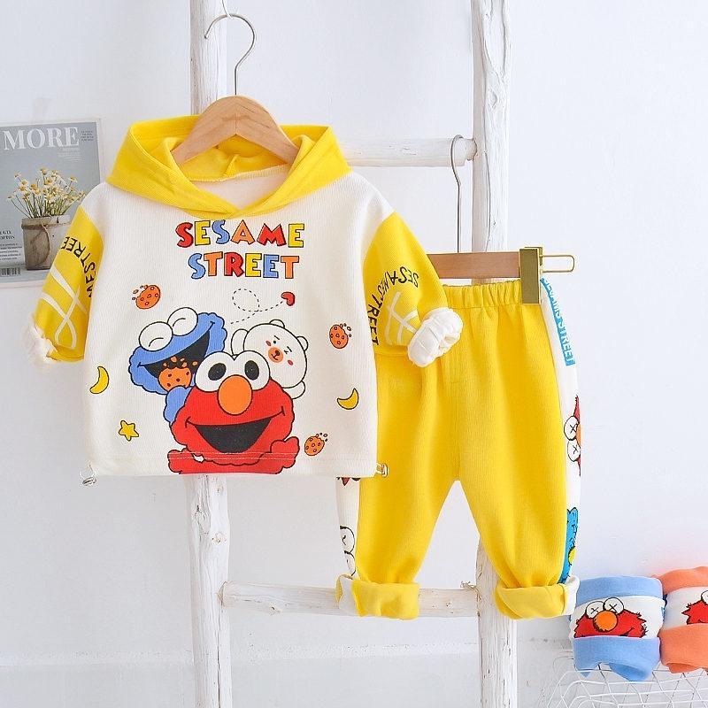 Primavera otoño niños ropa casual traje bebés niñas niñas dibujos animados con capucha chaqueta pantalones 2 unids / sets niños infantil moda ropa deportiva 201026