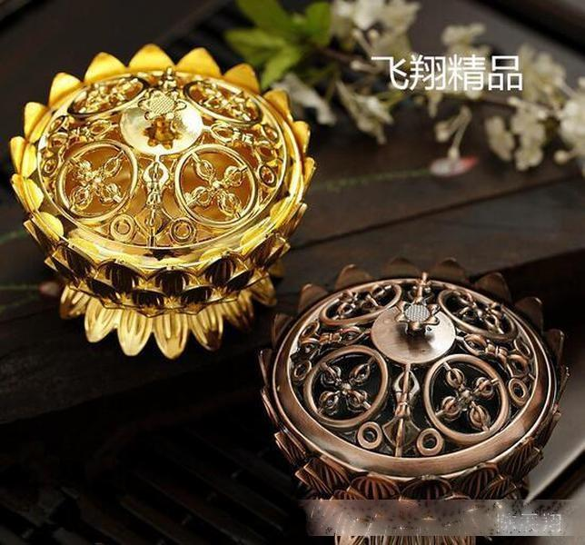 Nouveau Arriver Copper Lotus Encense Enfant Alliage Mini Burn-Tibétain Encens Encens Censeur De Sandal Home Décor