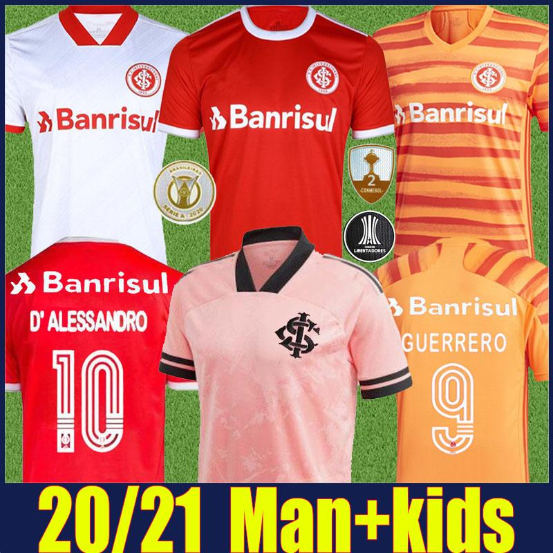 2020 SC Jersey International Jersey Man Kids Outuubre Rosa Especial Jersey V.Cuest Guerrero d'Alessandro Camisas de futebol Camisa de Sci 20/21
