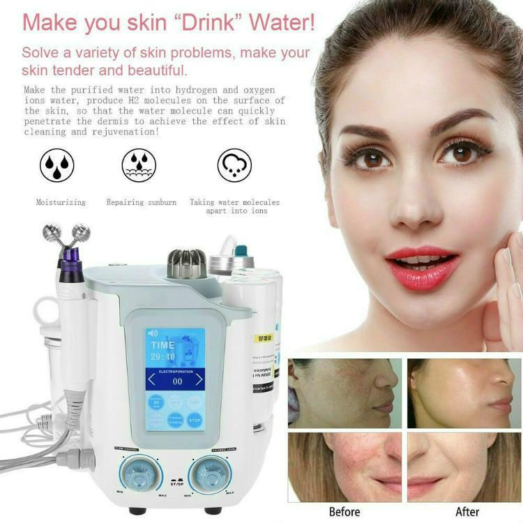 6 в 1 Aquasure H2 O2 Water DermaBrasion Hydra Machity Bio Lifting Massage Aqua Peeling Face Care Deep Clean Antifing