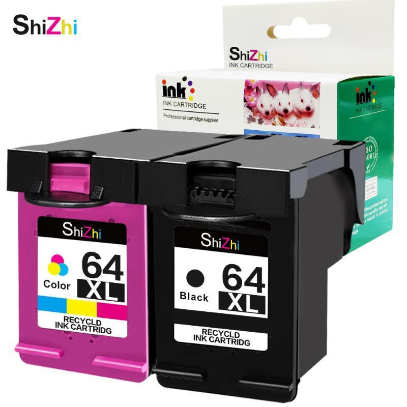 Cartouche d'encre Shizhi Compatible pour 64 xl 64xl Envy Photo 6252 6255 6258 7155 7158 7164 7855 7858 7864 7800 7820 Imprimante