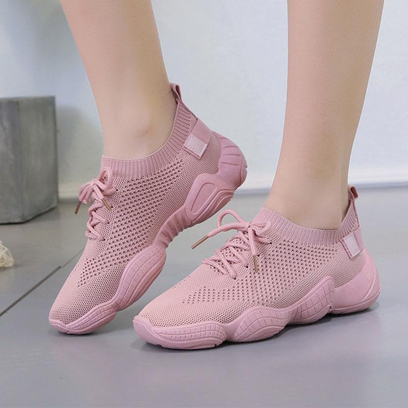 Dropshipping mesh rahat lace up vulkanize ayakkabı Q1201