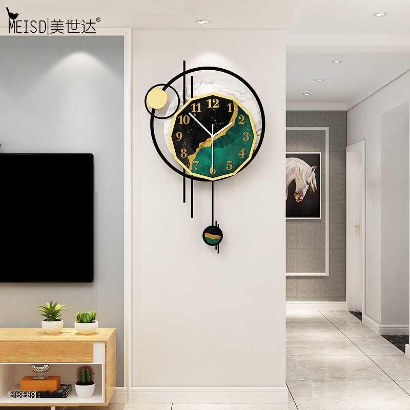 Meisd Nordic Clock Pendel Wandkunst Dekoration Vintage Quarz Zimmeruhr Kreativ Silent Home Wohnzimmer Horloge Freies Verschiffen