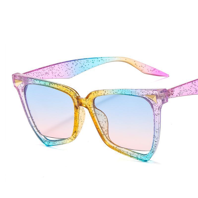 Мода Big 2021 Cat Eye OT9632 Женщины Прозрачная рамка Красочные Женские Новые Ретро Очки Солнцезащитные Очки оттенки UV400 Полые NDLMT