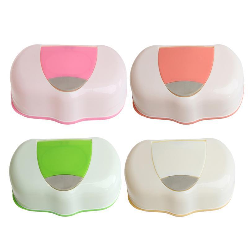 Kunststoff Nassentücher Aufbewahrungskofferbox Nachfüllbarer Behälter 80 Blätter T8WE