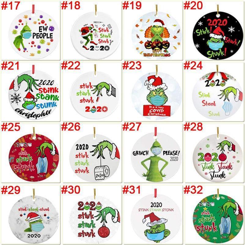 Grinch Quarentine Enfeite de Natal Natal Pendurado Ornamentos Personalize para o desenhista do desgaste da decoração da árvore de Natal 2020 à minha filha