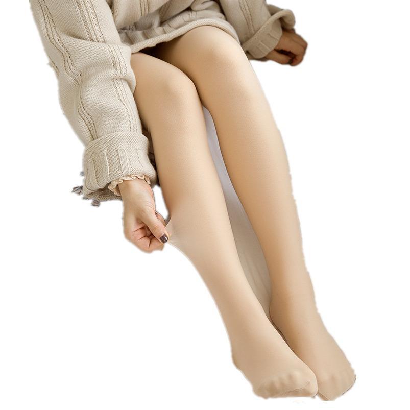 160g-280g Sıcak Kadınlar İmitasyon Cilt Renk Külotlu Noktası Sonbahar Kış Bahar Tayt Kadife Kalın Çorap Kadın Kazandı Seksi Medya C1210