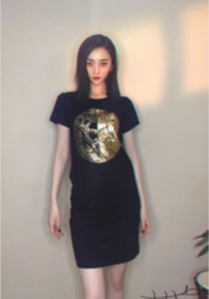 Mesa Verão One-Passo Meio-Comprimento Vestido Boutique T-shirt Fan Vermelho Vasaqi Edição Collector's Skirt New Ms. Skirt long 2021 BPaac