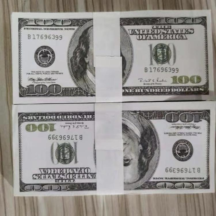 US Dollar Fake Prop Money Pretend Paper 20/ 50/ 100 props Euro Dollars Pounds Bills Movie Paper Money 100pcs/ pack 01