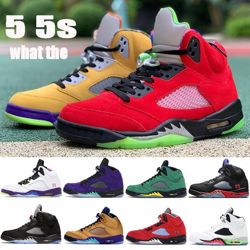 2021 YENI 5 5S Erkek Basketbol Ayakkabıları Üst 3 Alternatif Bel Alternatif Üzüm Travis Scotts Üçlü Siyah Erkekler Sneakers Eğitmenler