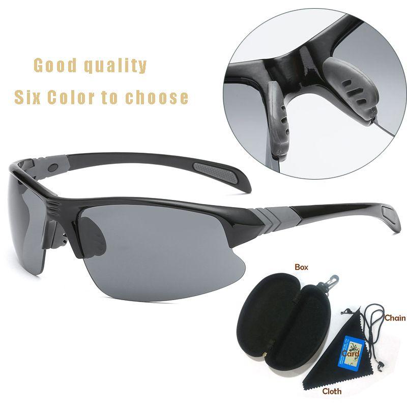 2020 Goggle Donne Designer Designer Cycling Men Occhiali da sole Sport Night Giallo Visivo per occhiali da sole Donne Arrampicata Nuovo Eyewear UV400 Guida Bike UUNMD