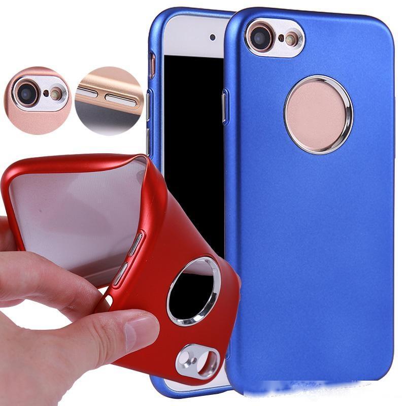 Case in gomma di alta qualità Soft TPU Pulsanti in metallo per iPhone 7 6Plus S7 S8Plus Telefono cellulare