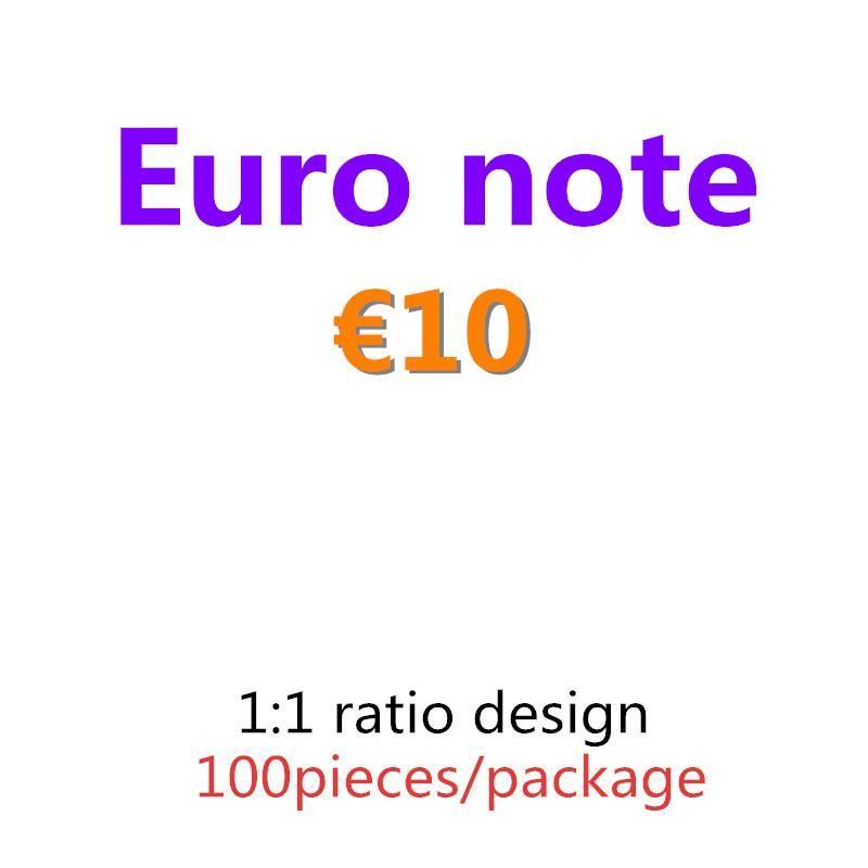Copiar copia falsa herramienta falsa juegos festivos Juguetes 10 Aprendiendo Euro Party Kids Paper Money Prop Gifts MoneyCollections 05 Dinero VMQTB