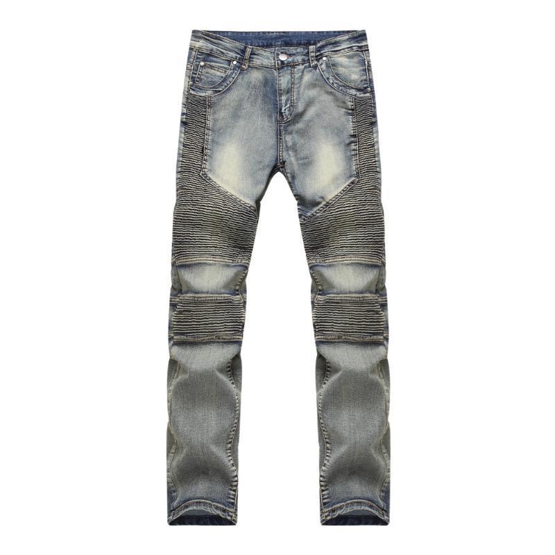 Мужские джинсы тонкий загорелый велосипедные брюки натягивают руку