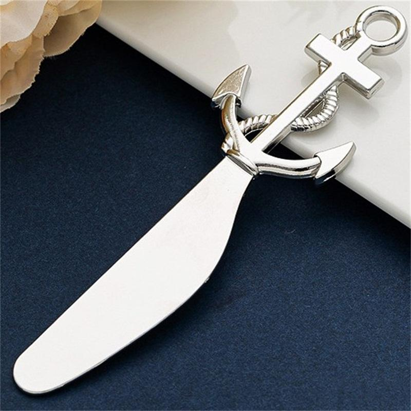 Океанская вечеринка пицца нож животных морской якорь якорь сердца в форме металлического масла ножи творческие свадьбы сувениры KKD3594