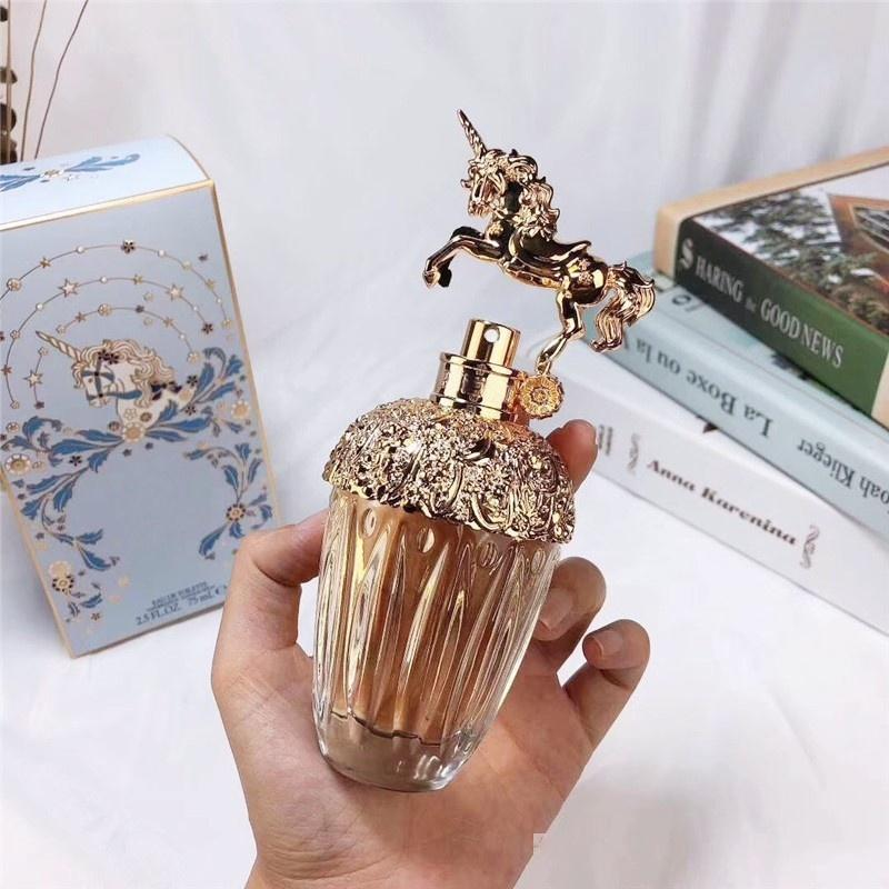 Trendy Unicorn Pefume para as mulheres belo design fragrância de longa duração tempo colônia natural 75 ml DHL frete grátis.
