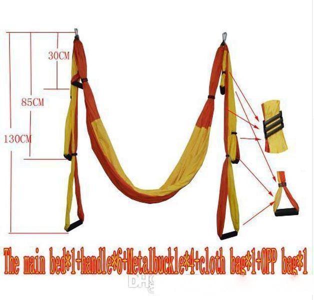 Air Flying Yoga Hammock Aerial Yoga Hammock Belt Fitness Swing Hammock With 440Lb Load c614