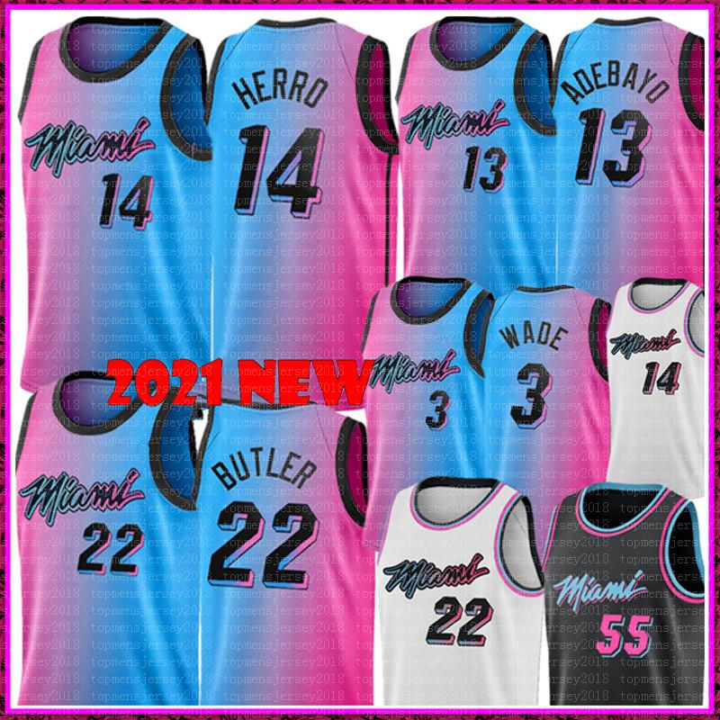 NOUVEAU BAM 13 ADEBAYO JERSEY TYLER 14 HERRO JIMMY 22 Butler Jersey 55 Robinson Goran 7 Maillots de basket-ball Dragic Basketball Bon marché Mens 2020 2021