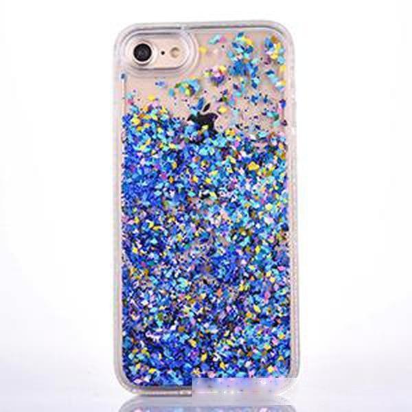 Glitter Liquid QuickSand Duro Capa de Telefone Transparente Sacos para iphone 5 5s SE 6 6S 7 8 Caixa de telefone claro
