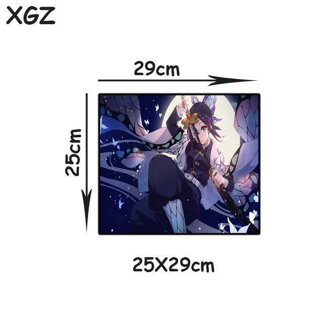 Pad Mouse a buon mercato XGZ Popolare Anime Demone Slayer Kimetsu No Yaiba Grande tappetino da topo Blocco Blocco Blocco Blocco tappeto tappetino tappetino tappetino gomma