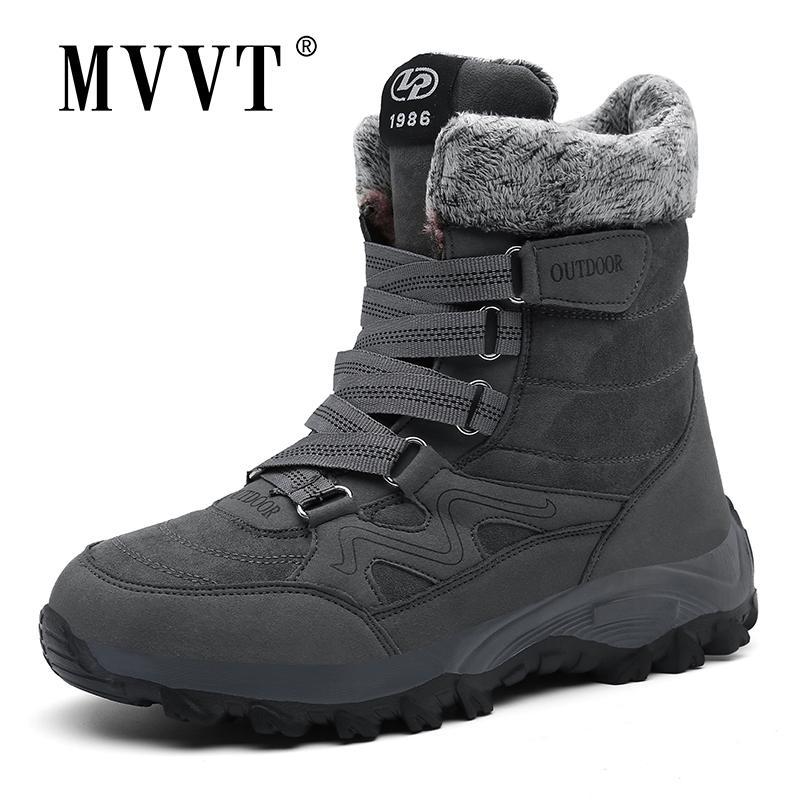 Super warme Schneeschuhe Männer Mid-Calf Outdoor Männer Winter Patentstiefel Wasserdicht Halten Sie Warme hohe Stiefel Männer Botas Hombre 201215