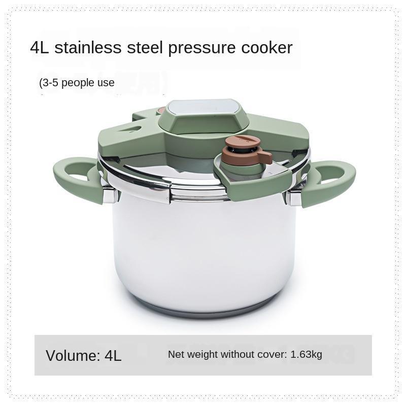 Fogão de arroz fogão de pressão 304 aço inoxidável de aço inoxidável guisado de sopa de cozinha conjunto de cookware de cozinha