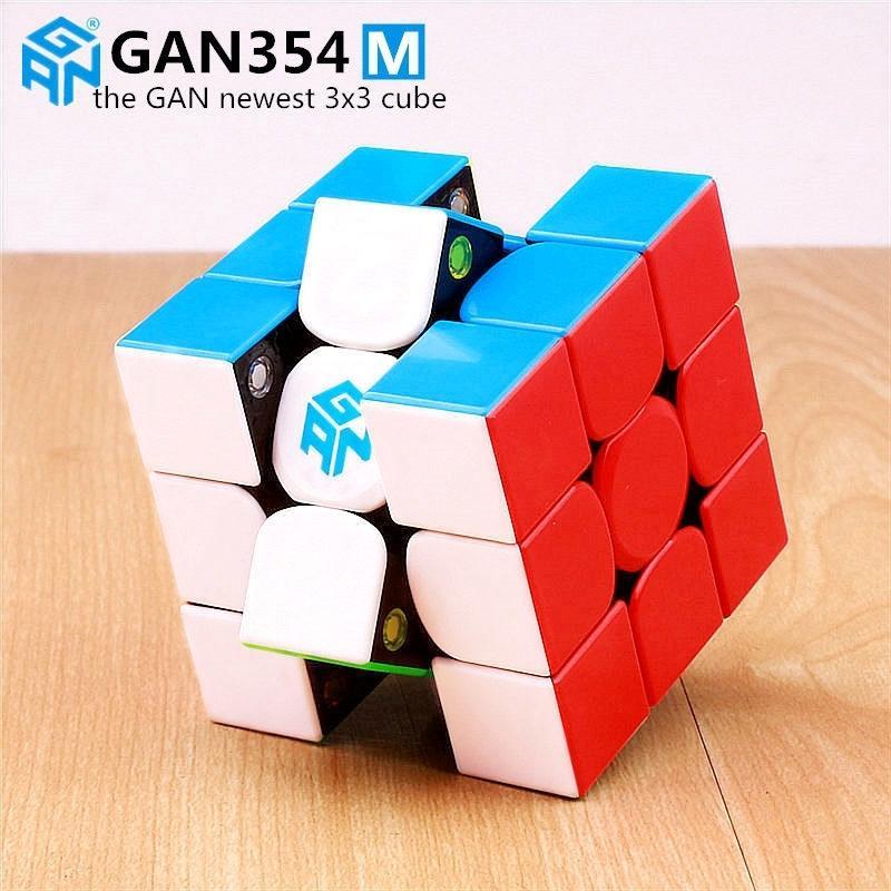 Gan 354 M quebra-cabeça magnético Magic Speed Speed Cubo 3x3 adesivo Menos Profissional Gan354 M ímãs Cubo de Velocidade Gan354m Brinquedos para Kid Y200428