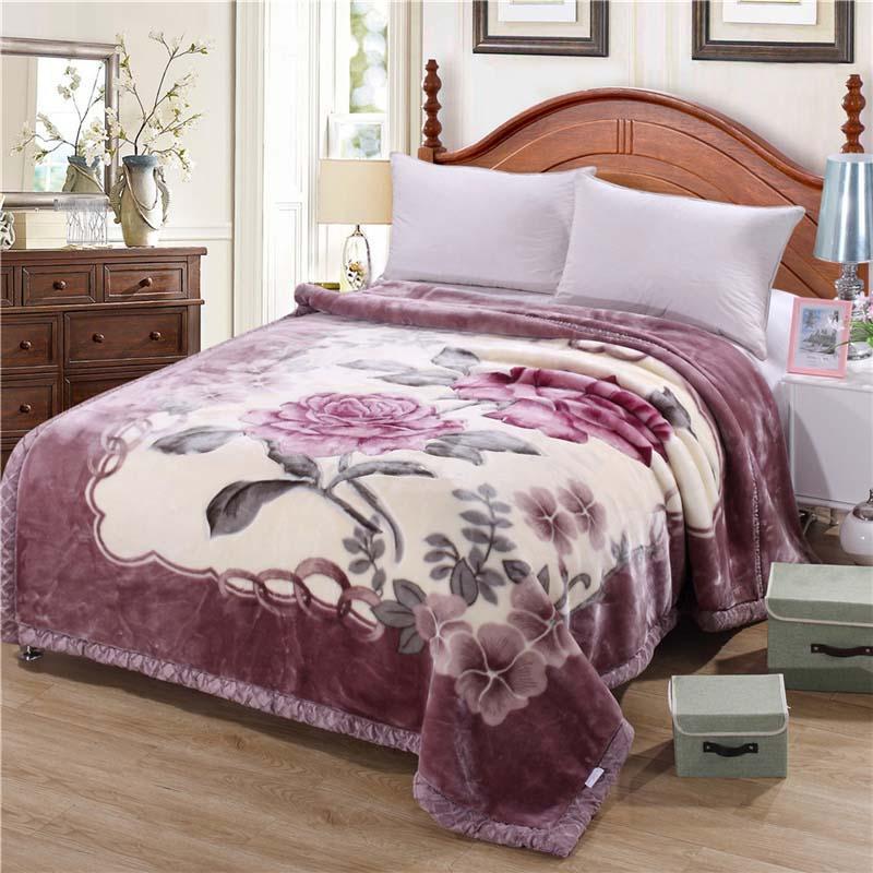Новое зимнее утолщение одеяло 200x230 см 4 кг Расчель одеяло король теплый толстый двойной слой мягкий размер хранения мультфильма