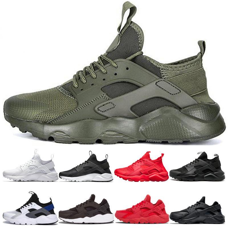 Arrivo Esecuzione di nuove scarpe Huarache 1.0 4.0 Verde Nero Bianco Bianco Bianco Blu Triple Bianco Bianco Tripla Black Walking Shoes Sneakers