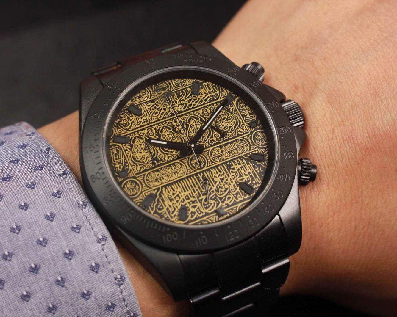 6-контактный мужской черный мода и щедрые часы из нержавеющей стали 40 мм автоматические механические роскоши мужские часы 5ATM водонепроницаемый