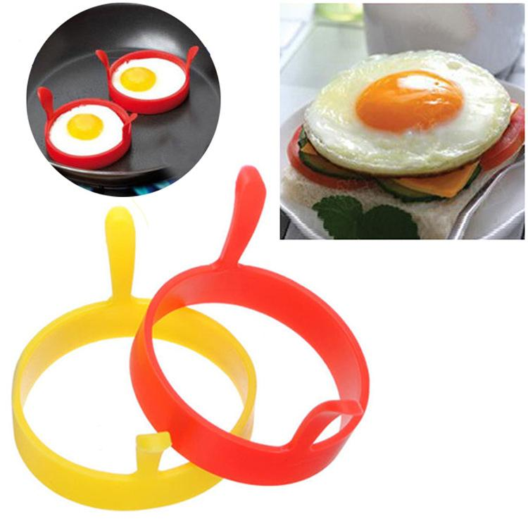 Mode Cuisine Chaude Silicone Bague à œufs Frire Feu au four