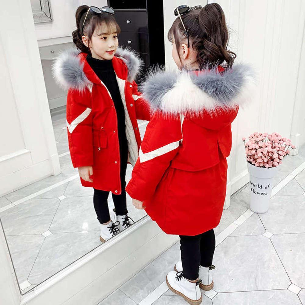 et descente veste rembourrée 2020 nouveau collier de cheveux de petite petite fille épaissie manteau de style étranger pour enfants727