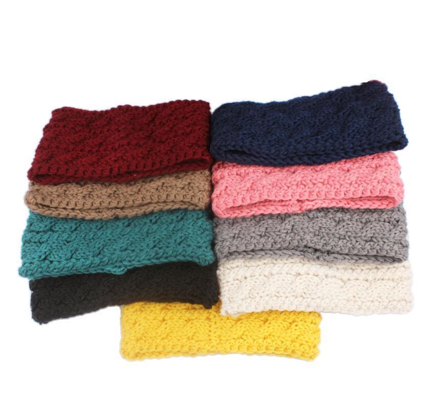 Scrunchies Headwear Femmes Bandeau Tricoté Sports d'hiver Sports de cheveux Turban Yoga Sport Bandeau de la tête Bandeau de soirée Favoris Cadeau NWC3883