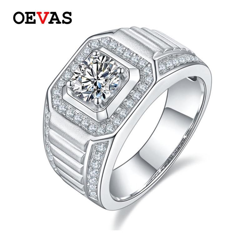 Real D Color Moissanite Anelli di nozze per uomo Top Quality 100% 925 Sterling Silver Gegagement Party gioielli gioielli