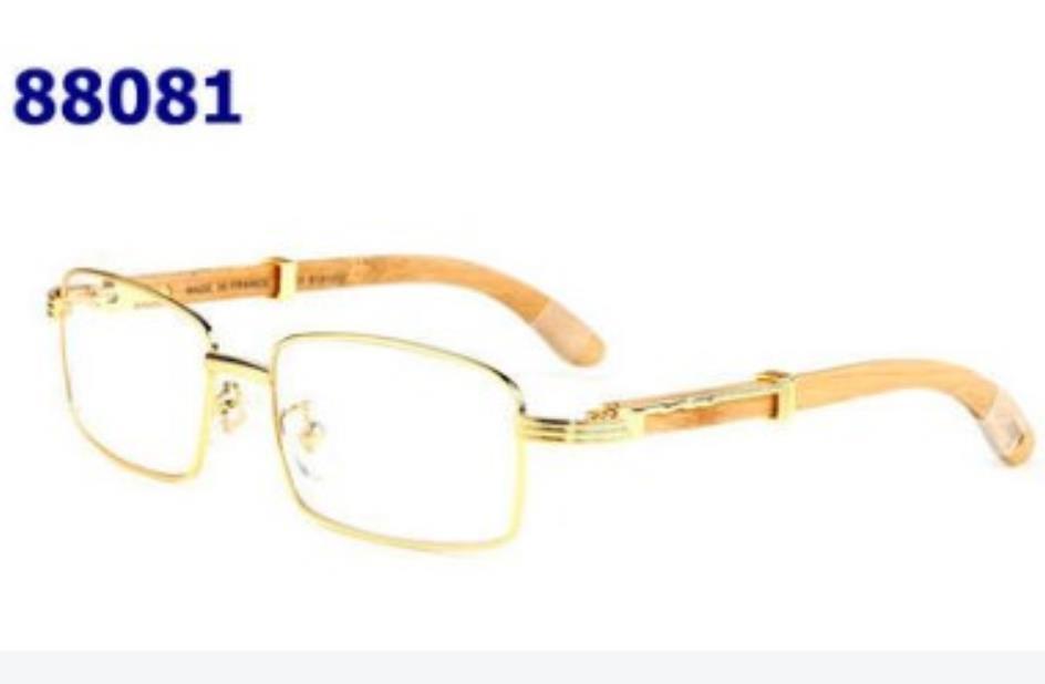 الجملة - رجل الخشب النظارات الشمسية رجل و إمرأة أسود براون عدسة شفافة فرملس ماركة مصمم الزجاج