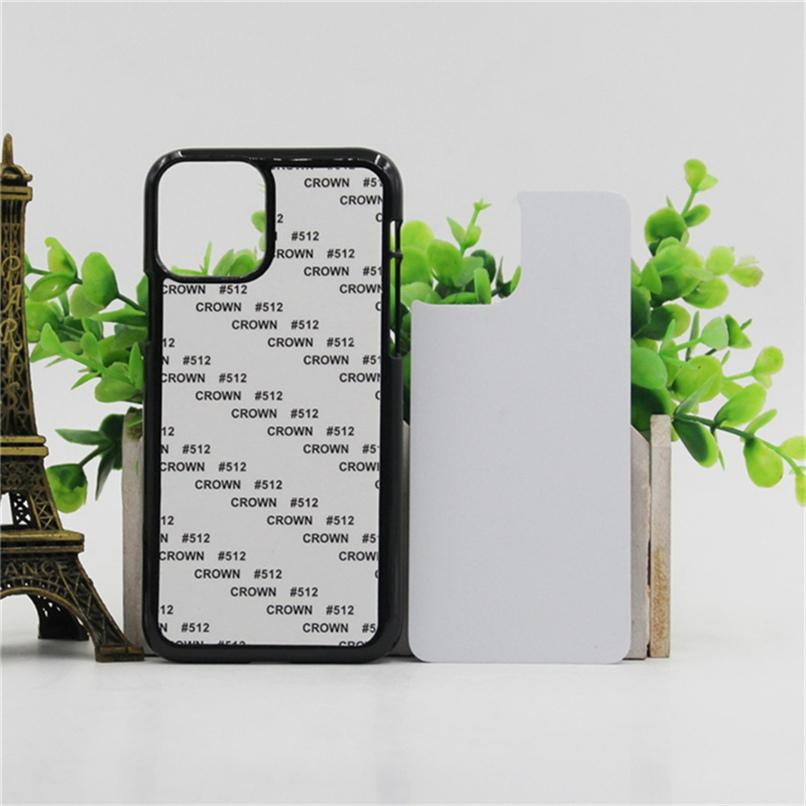 2D Sublimation Blank For IPhone 12 mini pro max 11 Pro XR XS Max 8 PLUS 7 6 DIY Hard Plastic Mobile phone Cover Case With Gule and Aluminium