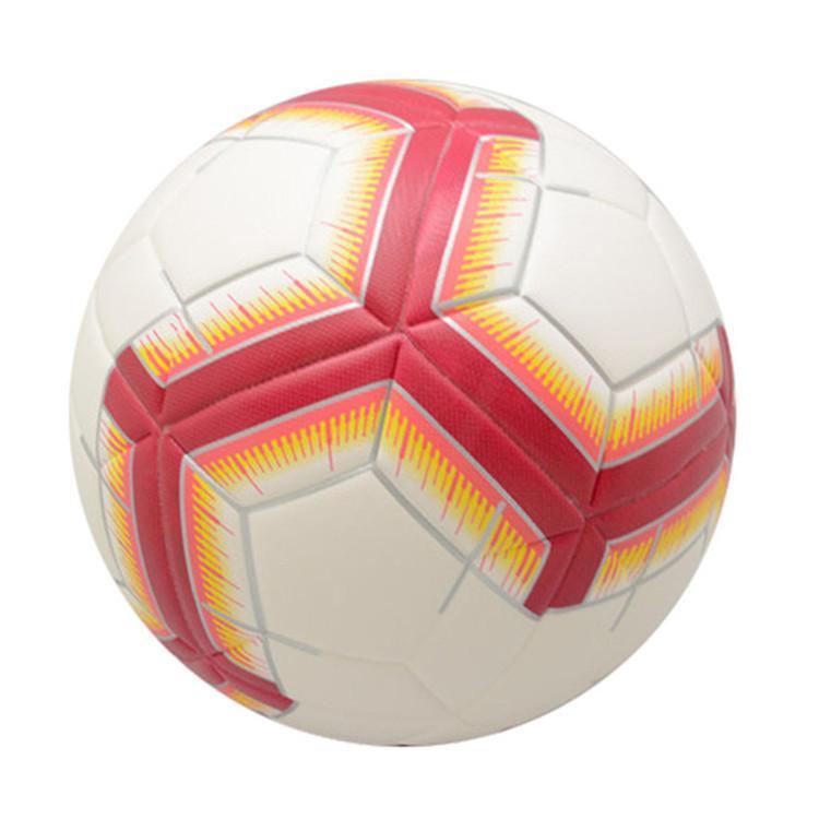 Palloni da calcio all'ingrosso Dimensioni 5 PVC Attrezzatura di addestramento di pallone da calcio laminato PVC Attrezzatura professionale Team Team Esecutivo
